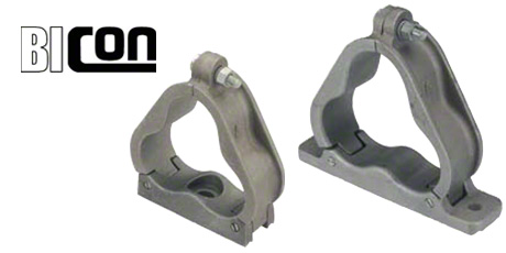 Bicon Cable Cleats Aluminium Trefoil Cleat For Cables