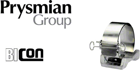 Prysmian Bicon Fire Resistant Cable Cleats - Single Multicleat (Stainless Steel)