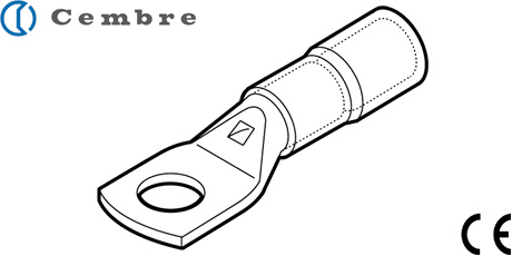 Cembre Cable Lugs, Insulated Crimp Terminals for Copper Conductors