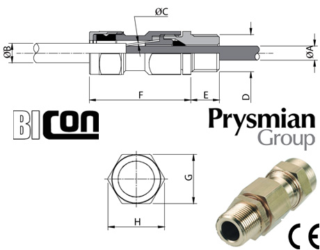 FP400 Cable Glands for Prysmian (Pirelli) Fire Performance SWA FP Cables