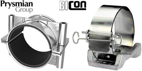 Bicon Cable Cleats for Single Cables - Prysmian BICC Cable Cleat