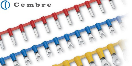 Chain Crimp Terminals, Cembre Pre Insulated Cable Terminal Halogen Free