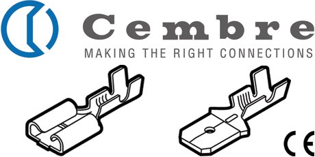 Crimp Terminals, Cembre Uninsulated Brass Cable Connectors 0.5 to 2.5sq.mm