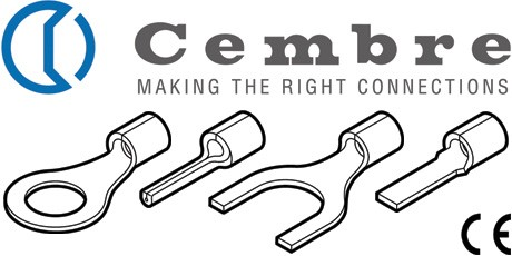 Crimp Terminals, Cembre Uninsulated Cable Connectors 0.25 to 6sq.mm