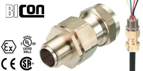Explosion Proof Cable Connectors for Jacketed Marine Shipboard Cables