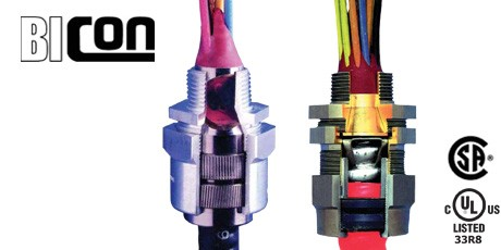 Explosion Proof Cable Connectors for Type MC Armoured Cables