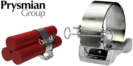 Prysmian FP Cable Cleats, Stainless Steel Fire Resistant Cable Cleat