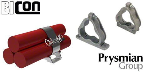 Bicon Cable Cleats, Aluminium Cable Cleats for Trefoil Cables