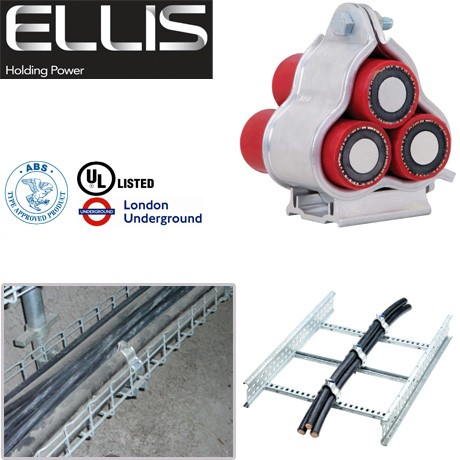 Ellis Patents Cable Cleats Alpha Trefoil Cleats Aluminium Cable Clamps Www Cable Jointing Com